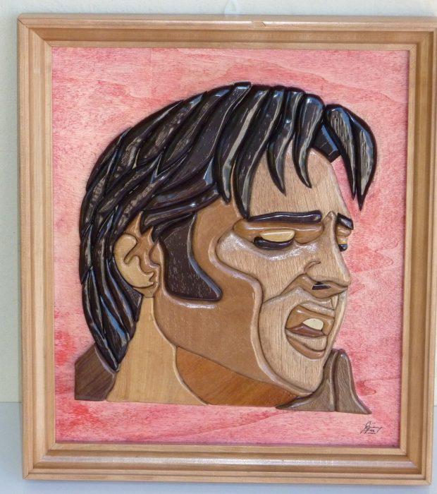 Intarsio Elvis Presley